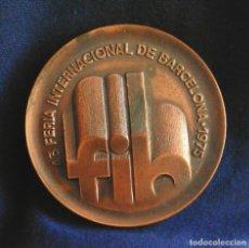 Trofeos y medallas: MEDALLA CONMEMORATIVA DE LA 43 FERIA INTERNACIONAL DE BARCELONA, FIH, JUNIO 1975. MEDALLÓN DE 6CM.. Lote 116358935