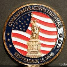 Trofeos y medallas: MEDALLA BAÑO EN ORO COMMEMORATING THE FLAG 2008 TRUMP NATIONAL GOLF CLUB ESTADOS UNIDOS. Lote 70181197