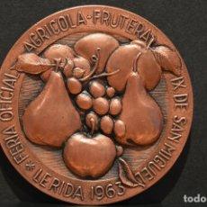Trofeos y medallas: MEDALLA LERIDA FERIA DE SAN MIGUEL 1963 LLEIDA. Lote 78382285