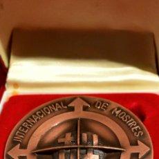 Trofeos y medallas: MEDALLA EN BRONCE 51 FIRA INTERNACIONAL DE MOSTRES DE BARCLEONA CAJA ORIGINAL. Lote 65905710