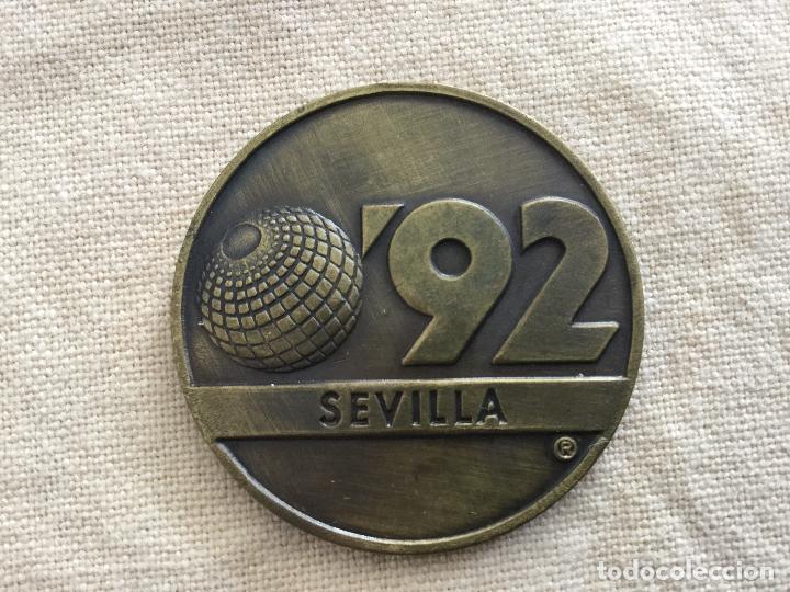 MEDALLA DE LA EXPO SEVILLA 92 LA CARTUJA. (Numismática - Medallería - Trofeos y Conmemorativas)