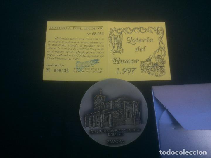LOTERÍA DEL HUMOR DE IGLESIA STA MARIA DE LA ORTA (ZAMORA) (Numismática - Medallería - Trofeos y Conmemorativas)