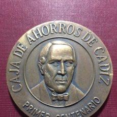 Trofeos y medallas: MEDALLA: CAJA DE AHORROS DE CÁDIZ.(PRIMER CENTENARIO).. Lote 117838267