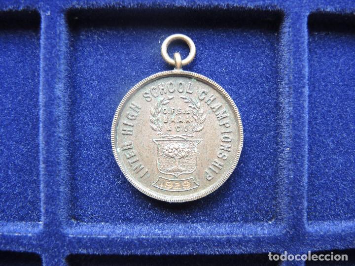 MEDALLA TROFEO CARRERA 1 MILLA RELEVOS, 1929 (Numismática - Medallería - Trofeos y Conmemorativas)