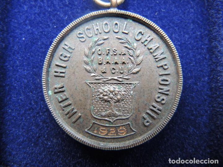 Trofeos y medallas: MEDALLA TROFEO CARRERA 1 MILLA RELEVOS, 1929 - Foto 3 - 117956303