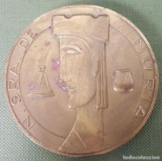 Trofeos y medallas: MEDALLA DE BRONCE. NUESTRA SEÑORA DE NÚRIA. CORONACIÓN CANÓNICA 1966. . Lote 118433315