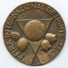 Trofeos y medallas: GRAN MEDALLA CONMEMORATIVA 14ª FIRA GENERAL DE MOSTRES 1984.1ª FIRA INTERNAC. FRUITS SECS EXPRO REUS. Lote 118748275