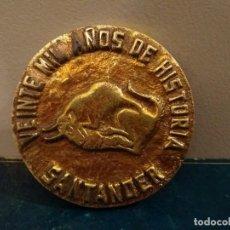 Trofeos y medallas: GRAN MEDALLA - VEINTE MIL AÑOS DE HISTORIA SANTANDER - ORGANIZACIÓN SINDICAL 1972. Lote 118803323