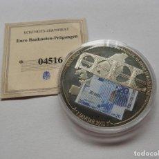 Trofeos y medallas: MONEDA CONMEMORATIVA CON BILLETE 20€ CON CERTIFICADO DE ORIGINALIDAD - UNION EUROPEA. Lote 118948507