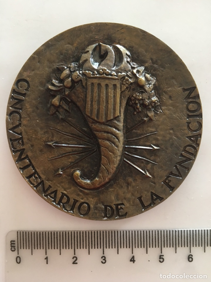 Trofeos y medallas: MEDALLA. FERIA MVESTRARIO INTERNACIONAL VALENCIA 1917 - 1967 / CINCVENTENARIO DE LA FVNDACION. - Foto 2 - 118991491
