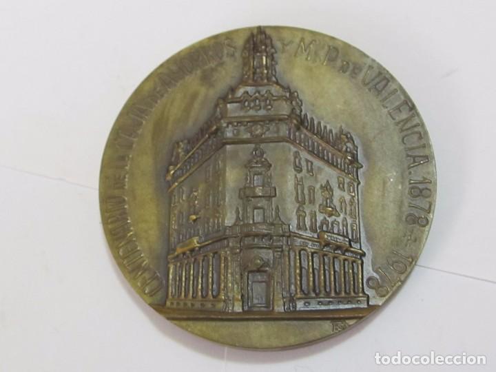 MEDALLA CONMEMORATIVA DE BRONCE, CENTENARIO CAJA DE AHORROS DE VALENCIA (1878 - 1978) (Numismática - Medallería - Trofeos y Conmemorativas)