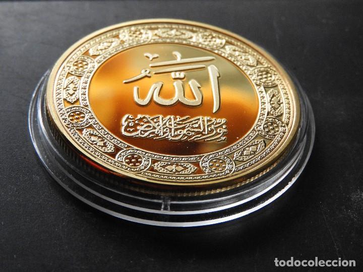 MONEDA ARABE ISLAM ORO 24 KT MOHAMMED EDICIOM LIMITADA (Numismática - Medallería - Trofeos y Conmemorativas)