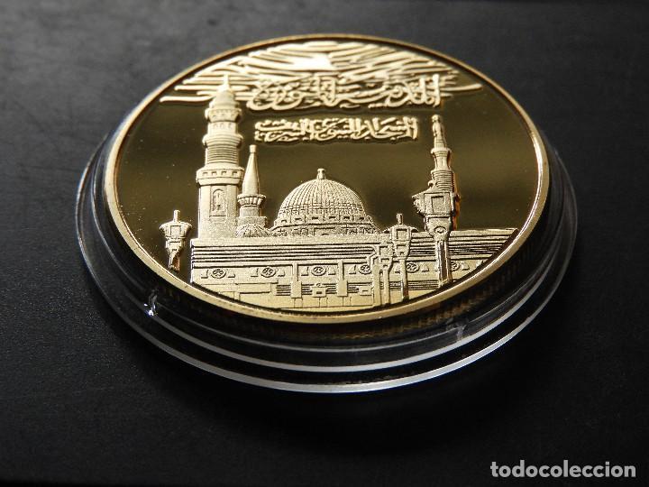 Trofeos y medallas: MONEDA ARABE ISLAM ORO 24 KT MOHAMMED EDICIOM LIMITADA - Foto 2 - 151708352