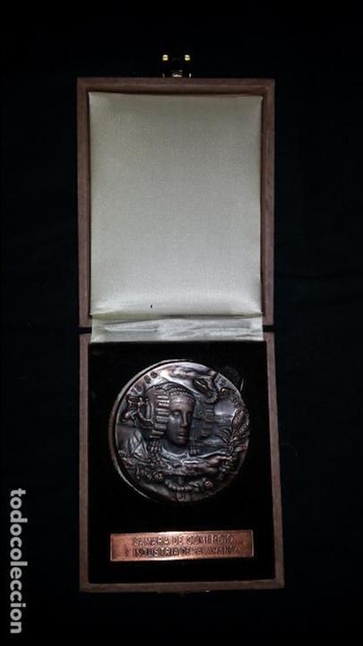 EXCEPCIONAL MEDALLA DE LA CAMARA DE COMERCIO E INDUSTRIA DE SALAMANCA. JULIO HERNANDEZ. 1986 (Numismática - Medallería - Trofeos y Conmemorativas)