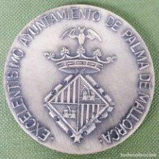 Trofeos y medallas: MEDALLA DE METAL PLATEADO. III TROFEO INTERNACIONAL DE FUTBOL. PALMA DE MALLORCA. 1971. . Lote 122762883