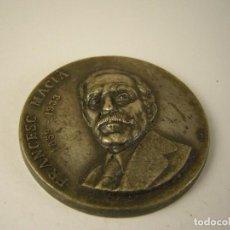 Trofeos y medallas: MONEDA FRANCESC MACIA 1859-1933 PRESIDENT DE LA GENERALITAT. Lote 124183387