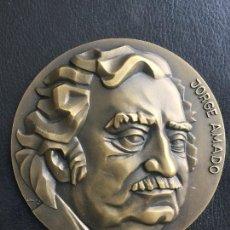 Trofeos y medallas: MEDALLA JORGE AMADO POR DOITA , SEMANA DA BAHIA CASINO ESTORIL 1980 , MEDALLA BRONCE. Lote 124418475