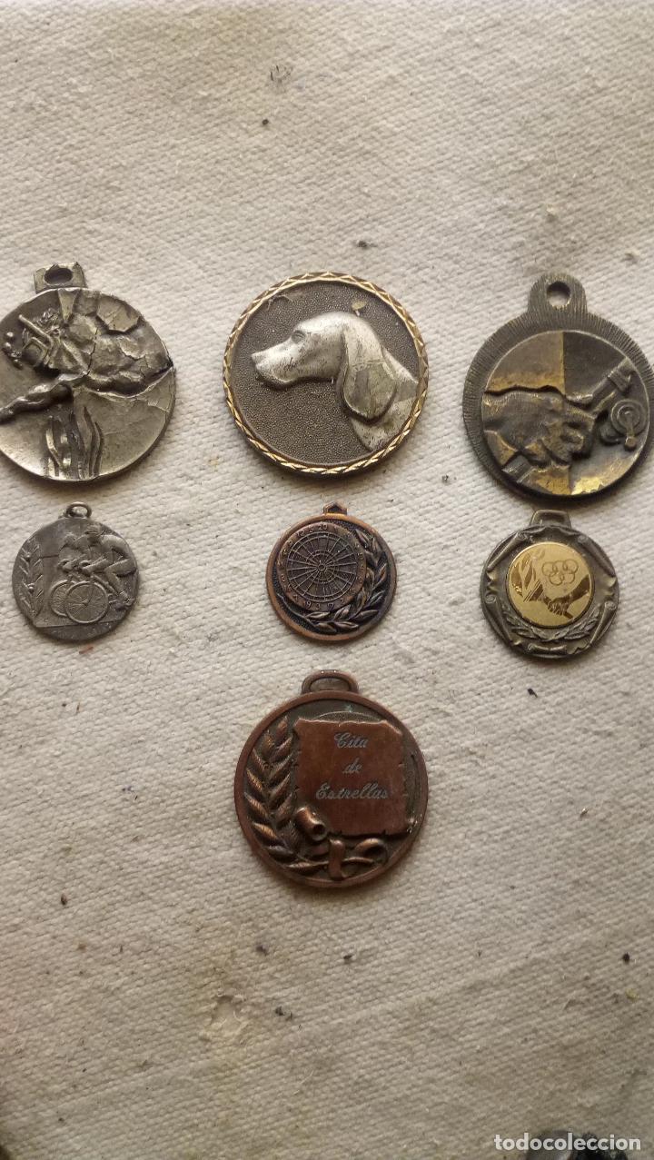 7 MEDALLAS DISTINTOS TEMAS, TAMAÑO Y METAL (Numismática - Medallería - Trofeos y Conmemorativas)