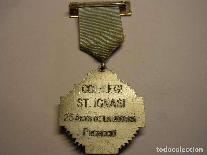 Trofeos y medallas: Medalla escolar, col.legi Sant Ignasi, Barcelona. - Foto 2 - 125110351