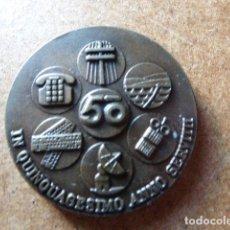 Trofeos y medallas: MEDALLA DE BRONCE. TELEFONICA 50 ANIVERSARIO. 4 CM DIAM.. Lote 126289471
