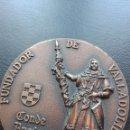 Trofeos y medallas: MEDALLA DE BRONCE. CONDE ANSUREZ, FUNDADOR DE VALLADOLID. Lote 128871415
