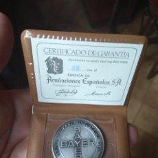 Trofeos y medallas: MONEDA - MEDALLA CONMEMORATIVA DE PLATA INAUGURACIÓN FABRICA BAYER TARRAGONA 1971. Lote 129077671