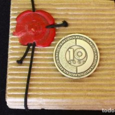 Trofeos y medallas: MEDALLA-MONEDA DE PLATA CONMEMORANDO 10 ANIVERSARIO SOLRED. Lote 129106447