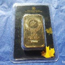 Trofeos y medallas: LINGOTE DE ORO ROYAL CANADIAN MINT UNA ONZA FINE GOLD 999,9 LEER DESCRIPCION MIRAD FOTOS. Lote 130117179