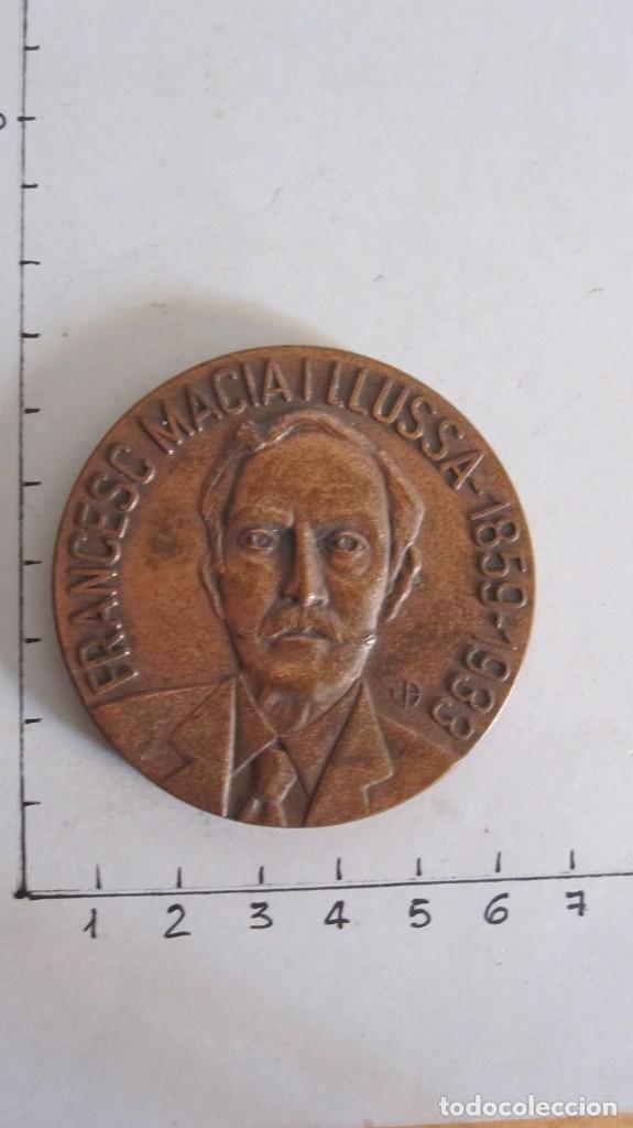VIEJA MEDALLA FRANCESC MACIÀ I LLUSSA 1859-1933 - PRESIDENT GENERALITAT CATALUNYA (Numismática - Medallería - Trofeos y Conmemorativas)
