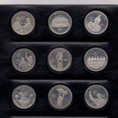 Trofeos y medallas: REAL MADRID,100 AÑOS DEL EQUIPO, 12 MEDALLAS ACUÑADAS EN 2002. Lote 132247902