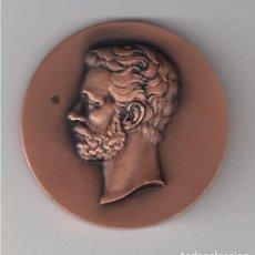 Trofeos y medallas: MEDALLA DE AMADEO I DEL CENTRO FILATÉLICO Y NUMISMÁTICO DE BARCELONA DE 1974. BRONCE. (MD118). Lote 132299614