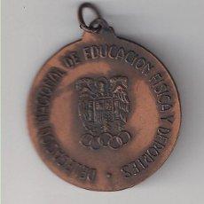 Trofeos y medallas: MEDALLA DE LA DELEGACIÓN NACIONAL DE EDUCACIÓN FÍSICA Y DEPORTES. TROFEO MINI-BASKET 1971. (MD121). Lote 132308018