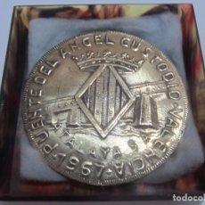 Trofeos y medallas: MEDALLA CONMEMORATIVA - PUENTE DEL ÁNGEL CUSTODIO 1967 (VALENCIA). Lote 132390646