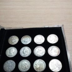 Trofeos y medallas: COLECCION MONEDAS EDITADAS POR LA VANGUARDIA - DE LA PESETA AL EURO. Lote 133588894