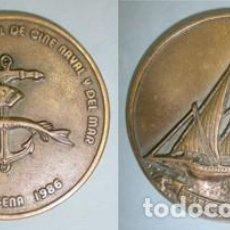 Trofeos y medallas: MEDALLA EN BRONCE SEMANA INTERNACIONAL DE CINE NAVAL Y DEL MAR - MEDALLA-009 ,2. Lote 135094838