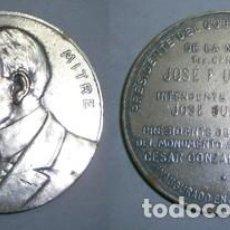 Trofeos y medallas: MEDALLA EN METAL PLATEADO EMILIO MITRE PRESIDENTE DEL GOBIERNO PROVISIONAL...- MEDALLA-037. Lote 135155946