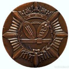 Trofeos y medallas: GRAN MEDALLA EN BRONCE CUERPO DE INTENDENTES DE LA HACIENDA PUBLICA BARCELONA. Lote 110215339