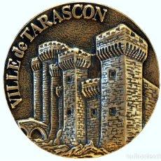 Trofeos y medallas: GRAN MEDALLA EN BRONCE CASTILLO FRANCIA VILLE DE TARASCON CONCORDIA FELIX. Lote 155729438