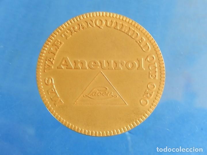 Trofeos y medallas: Ficha / Medalla / Moneda publicitaria. Aneurol. Lacer. Acuñada en 1964. - Foto 9 - 135376134