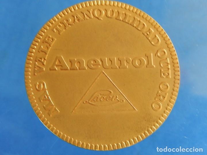 Trofeos y medallas: Ficha / Medalla / Moneda publicitaria. Aneurol. Lacer. Acuñada en 1964. - Foto 10 - 135376134