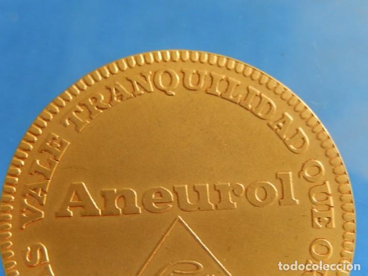 Trofeos y medallas: Ficha / Medalla / Moneda publicitaria. Aneurol. Lacer. Acuñada en 1964. - Foto 11 - 135376134