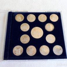 Trofeos y medallas: CONJUNTO DE 13 MONEDAS PLATEADAS CON MONUMENTOS DE SALAMANCA. Lote 136074246