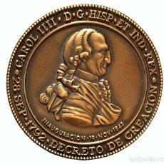 Trofeos y medallas: MEDALLA EN BRONCE DEL BICENTENARIO DEL MUSEO NAVAL DE MADRID CARLOS IV 1792. Lote 78281341
