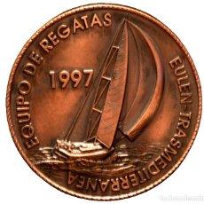 Trofeos y medallas: GRAN MEDALLA MEDALLON EN BRONCE REGATA TRANSMEDITERRANEA 1997. Lote 95243559