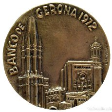 Trofeos y medallas: GRAN MEDALLA EN BRONCE BANCO DE GERONA 1972 BANCA CARRERA 1929 GIRONA. Lote 112910503
