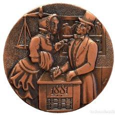 Trofeos y medallas: MEDALLA BANC DE SABADELL COMMEMORACIO DEL CENTENARI 1881 1981 EXCELENTE CONSERVACION. Lote 60276495