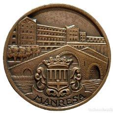 Trofeos y medallas: MEDALLA EN BRONCE MANRESA FIESTA MAYOR 1970. Lote 113516607