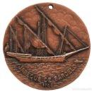 Trofeos y medallas: MEDALLA EN BRONCE BARCO CORSARIO JABEQUE DE BARCELO MUSEU DEL MAR VILANOVA I LA GELTRU. Lote 113515959