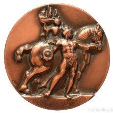 Trofeos y medallas: MEDALLA EN BRONCE BARCELONA 1982 CERCLE FILATELIC I NUMISMATIC. Lote 86536480