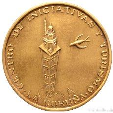 Trofeos y medallas: MEDALLA EN BRONCE LA CORUÑA 1974 ESPAÑA ASAMBLEA NACIONAL DE LA FECIT ESTUCHE ORIGINAL. Lote 101936415